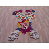 Kinder Clown Fun Multi Kids Rug