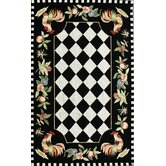 Rooster Black Novelty Rug