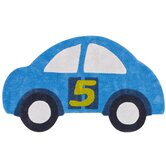 KinderLOOM Cars Blue Kids Rug