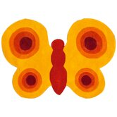 KinderLOOM Butterfly Yellow Kids Rug