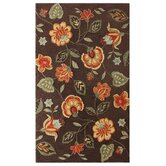 Pop Bold Floral Chic Brown Rug