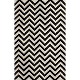 Gradient Chevron Black Rug