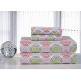 Heavy Weight Printed Flannel Sheet Set in Starburst Print