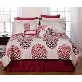 Twin 6 Piece Luxury Bedding Ensemble in Cherry Blossom