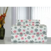 Heavy Weight Snow Flakes Printed Flannel Sheet Set