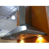 Stainless Steel 36&quot; x 20&quot; Wall Mount Range Hood with 900 CFM