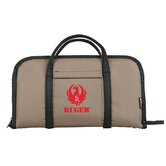 Ruger Embroidered Attache Case in Tan / Black