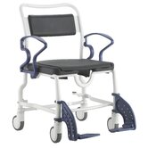 Chicago Bariatric Shower Commode Chair in Grey / Blue