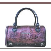 Faux Leather Handbag Pet Carrier in Deep Burgundy