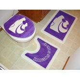 Kansas State Wildcats 3 Piece Bath Rugs