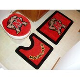 Maryland Terrapins 3 Piece Bath Rugs
