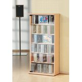 Vetro CD / DVD Tower in Beech