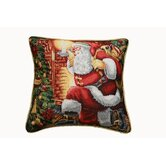 Seasonal Santa Claus Design Cushion Cover