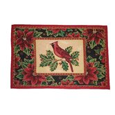 Seasonal Cardinal Design Novelty Rug