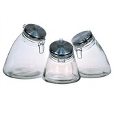 Slope 3 Piece Jar with Stainless Steel Lid