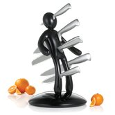 The Ex 2nd Edition Five Piece Knife Set with Holder in Black (Set of 5)