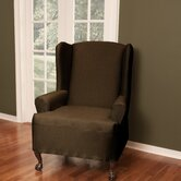 Stretch Twill Wing Chair T-Cushion Slipcover