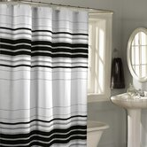 Racer Stripe Fabric Shower Curtain