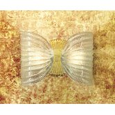 Butterfly Wall Light in Crystal Golden Leaf by Marina Toscano