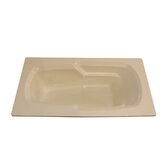 72&quot; x 36&quot; Whirlpool Armrest Bath Tub