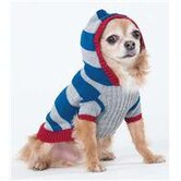 Collegiate Striped Dog Sweater