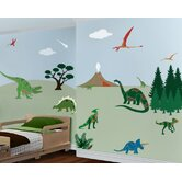 Dinosaur Days Self-Adhesive Wall Stencil Kit