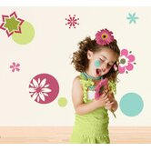 Dots and Daisies Self-Adhesive Wall Stencil Kit