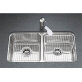 "Undertone 7.5"" Double Equal Undermount Kitchen Sink"