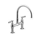 Parq Deck Mount Double Handle Widespread Bridge Faucet