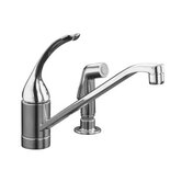 Coralais Single Handle Centerset Kitchen Faucet with Side Spray Less Escutcheon