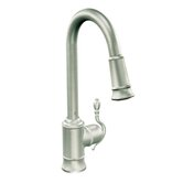 Woodmere One Handle Single Hole High Arc Pull Down Kitchen Faucet with 68&quot; Braided Hose
