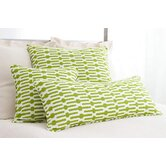 "Graphic Traffic Links 18"" Decorative Pillow in Key Lime"