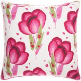 "Bright Stuff Happy Poppies 26"" Decorative Pillow in Pink"