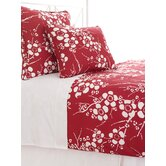 Kiyoko Duvet Cover and Sham in Red