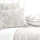 Ruched Linen Duvet Cover and Shams in Platinum / White
