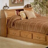 Country Heirloom Pier Bookcase Headboard Only in Warm Rich