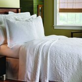 Matelass&eacute; Stone Washed Coverlet in Grafix