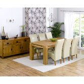 Madrid Chunky Solid Oak Dining Table with Roma Chairs