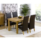 Cambridge Solid Oak Dining Table with 4  Roma Chairs