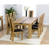 Barista Dining Solid Oak Table with 8  Havana Chairs