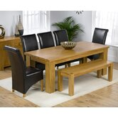 Barcelona Solid Oak Dining Table with Barcelona Chairs and Barcelona Bench