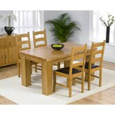 Barcelona Solid Oak Dining Table with Valencia Chairs
