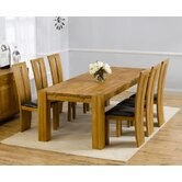 Madrid Chunky Solid Oak Dining Table with Arizona Dining Chairs