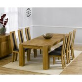 Madrid Chunky Solid Oak Dining Table with Havana Dining Chairs