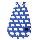 "130cm Sommer-Kugelschlafsack ""Happy Sheep"" in Blau"