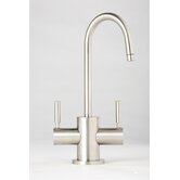 Parche Two Handle Single Hole Hot and Cold Water Dispenser Faucet with Lever Handle