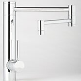 "Hunley 18"" One Handle Single Hole Pot Filler Kitchen Faucet with Built-In Diverter and Lever Handle"