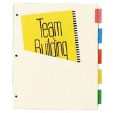 "Ring Binder Dividers, w/ Pocket, 7 pt., 5-Tab, 11""x9"", Assorted Colors"