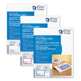 "Name Badge Labels, Laser/Inkjet, 3-3/8""x2-1/3"", 400 per Box"