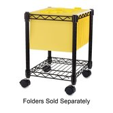 "Compact Mobile Cart, 15-1/2""x14""x19-1/2"", Black"